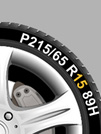 An example of how to read your tyre diameter from Setyres